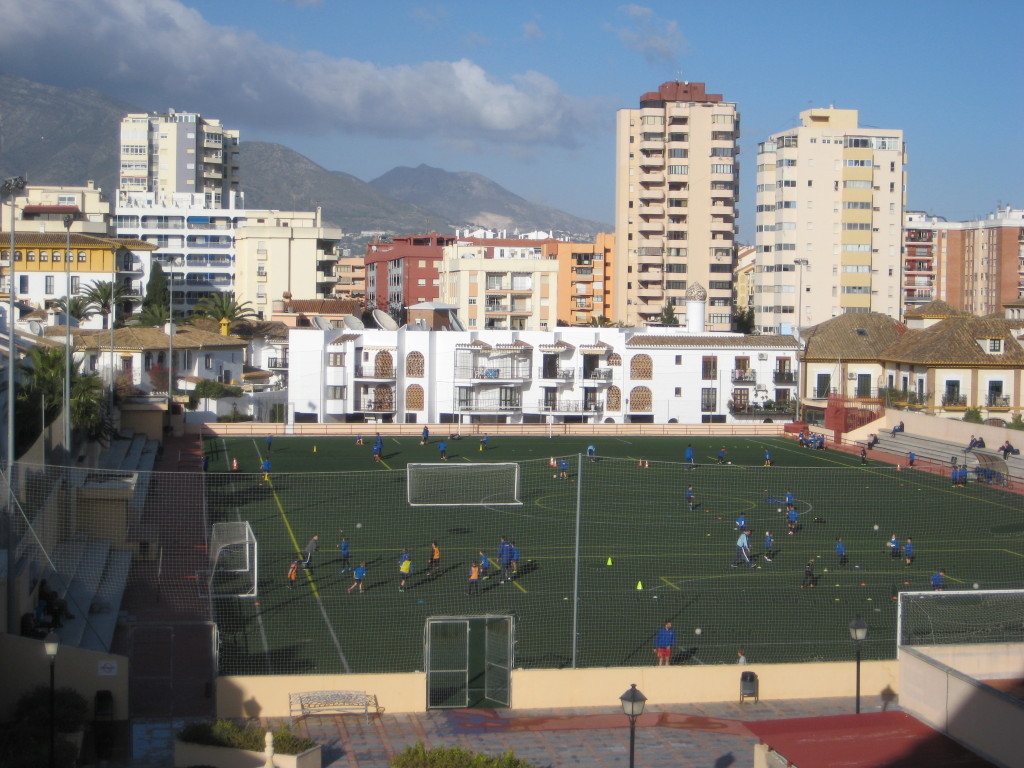 Our back balcony, off the bedrooms, gives us a nice view of soccer practices and games.