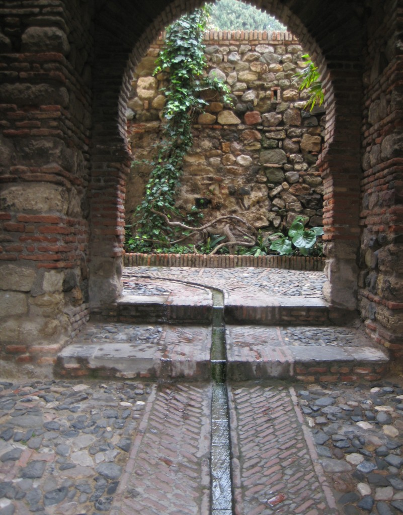 Water channels in the floor watered the many gardens, with the source obviously at a high point.